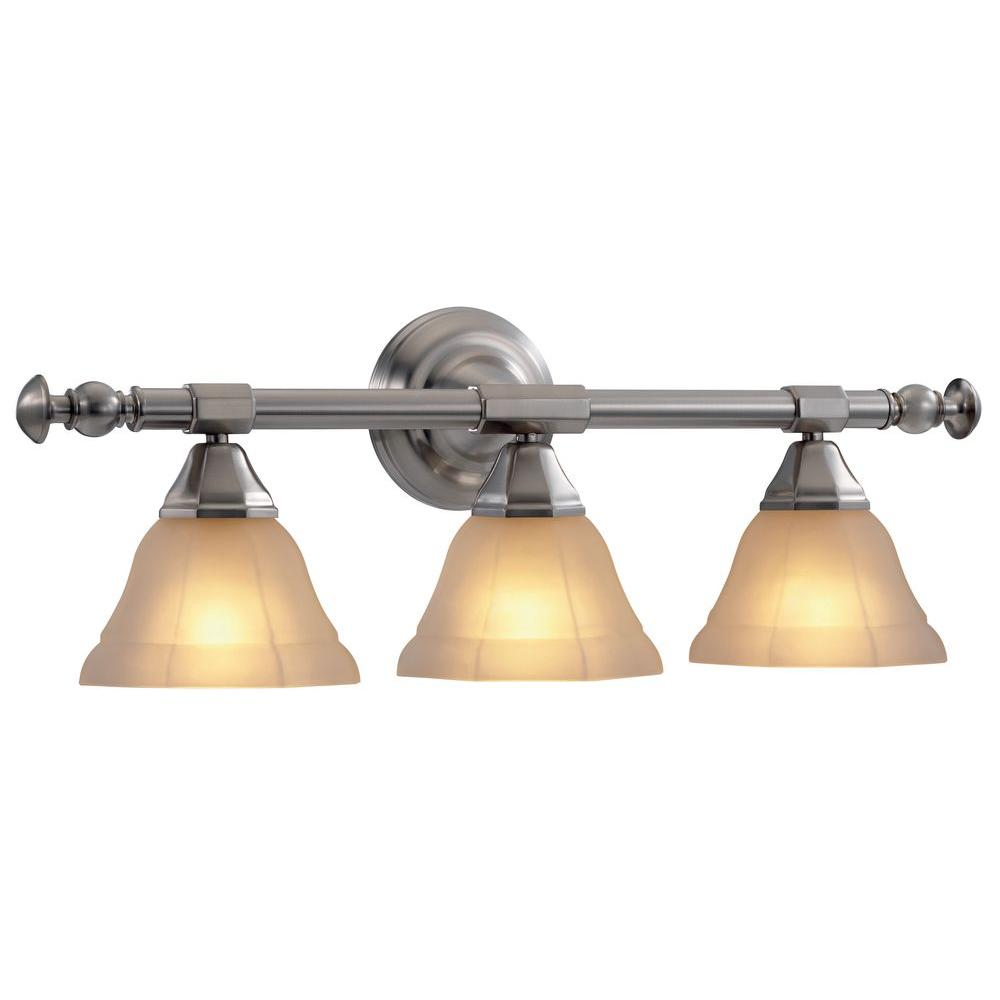 Hampton Bay Rochester Collection Pewter 3-Light Vanity-DISCONTINUED