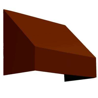 4.38 ft. Wide New Yorker Window/Entry Awning (18 in. H x 36 in. D) Terra Cotta