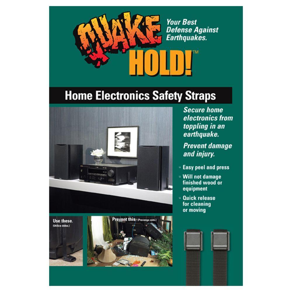 Black Multi Use Electronic Safety Strap VCR/Stereo