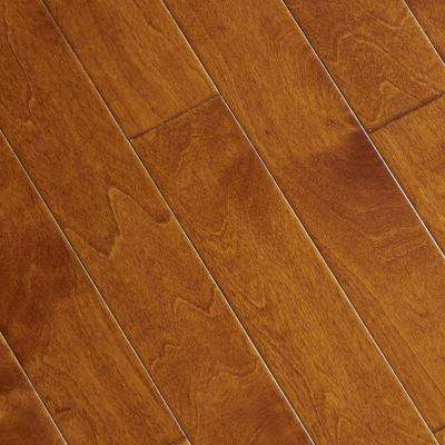 Hand Scraped Maple Sedona 3/8 in. T x 3-1/2 in. W x Varying Length Click Lock Hardwood Flooring (20.71 sq. ft. / cs)