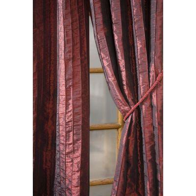 Home Decorators Collection Semi-Opaque Red Meadowbrook Rod Pocket Panel - in. W x 84 in. L