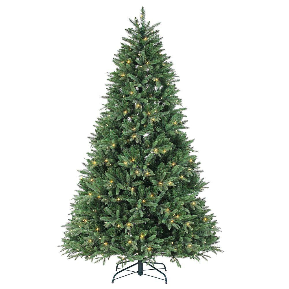 sterling 7 5 ft pre lit dakota pine artificial christmas tree with power pole remote control. Black Bedroom Furniture Sets. Home Design Ideas