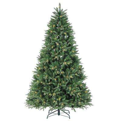 7.5 ft. Pre-Lit Dakota Pine Artificial Christmas Tree with Power Pole, Remote Control and Color Changing LED Lights