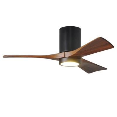 Irene 42 in. LED Indoor/Outdoor Damp Matte Black Ceiling Fan with Light with Remote Control, Wall Control