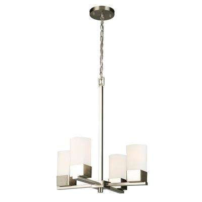 Novela 4-Light Brushed Nickel Chandelier