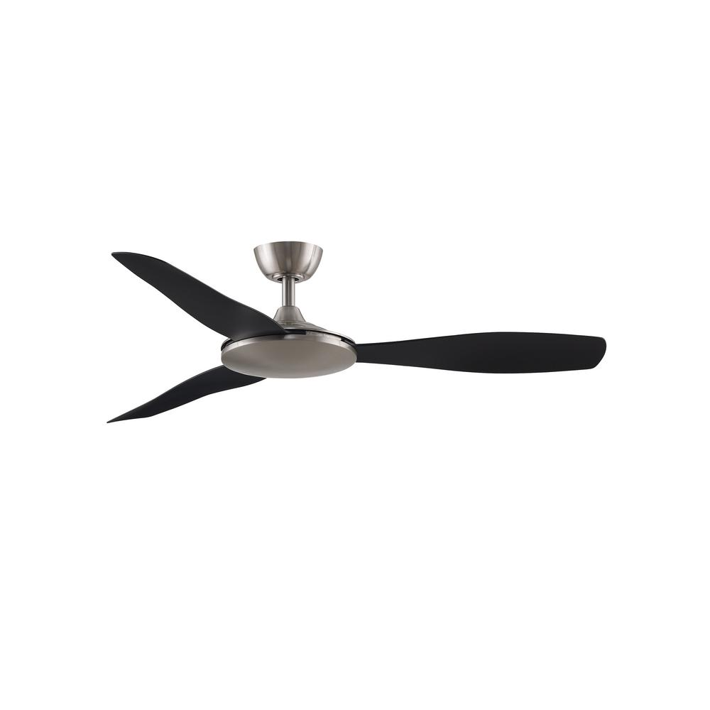 GlideAire 52 in. Indoor/Outdoor Brushed Nickel with Black Blades Ceiling Fan with Remote Control