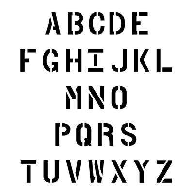 Alphabet   Commercial Stencils   Signs, Letters & Numbers   The
