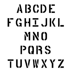 Stencil Ease 42 in. Parking Lot Alphabet Set CCU0053A42   The Home