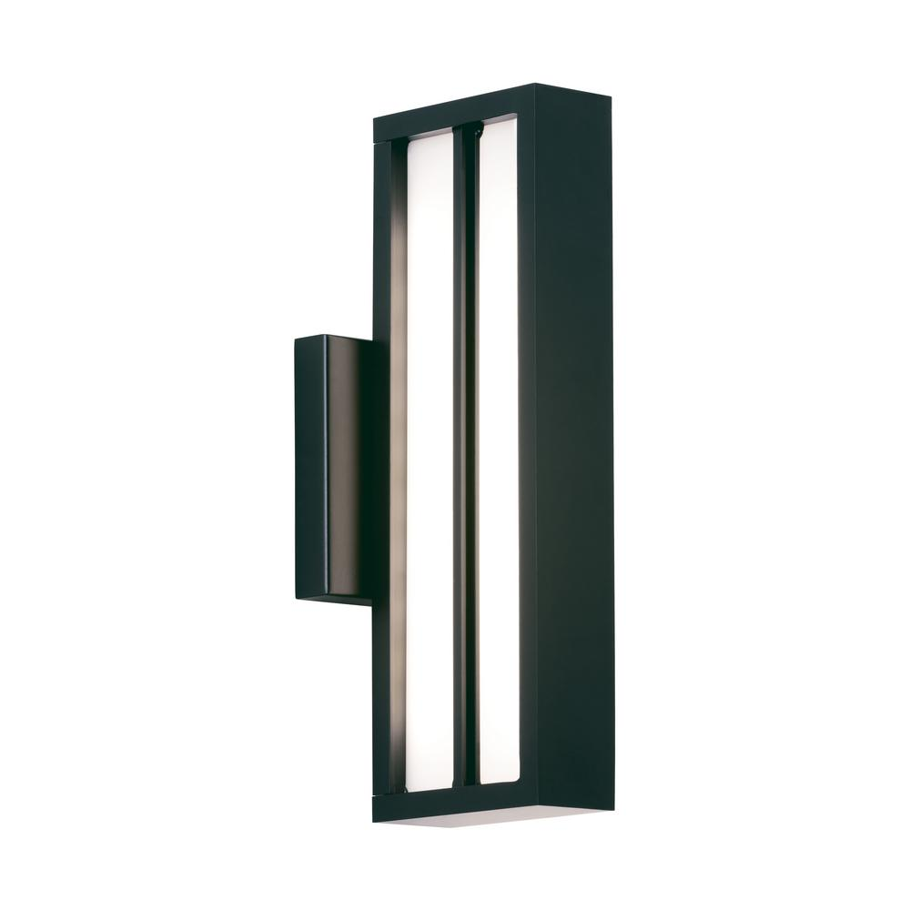 Aviva 1-Light Black Outdoor Integrated LED Wall Mount Sconce