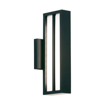 Aviva 1-Light Black Outdoor 26 in. Integrated LED Wall Mount Sconce