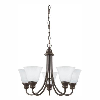 Windgate 5-Light Heirloom Bronze Chandelier with LED Bulbs