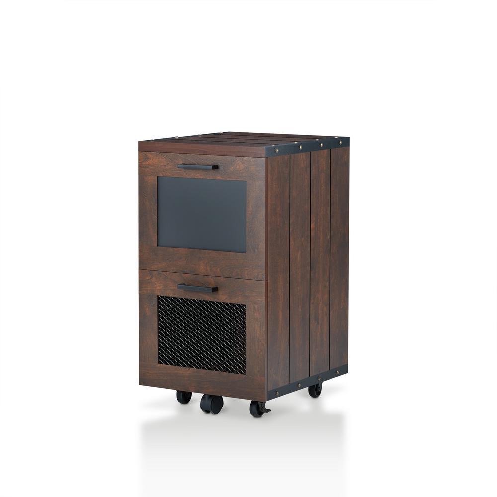 Otra Vintage Walnut File Cabinet with Chalkboard Panel