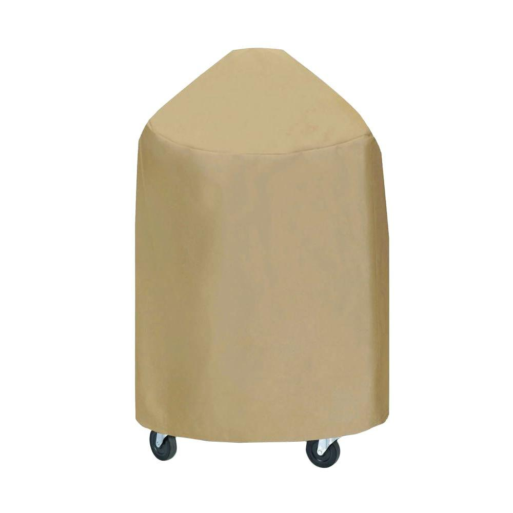 29 in. Large Round Grill/Smoker Cover in Khaki