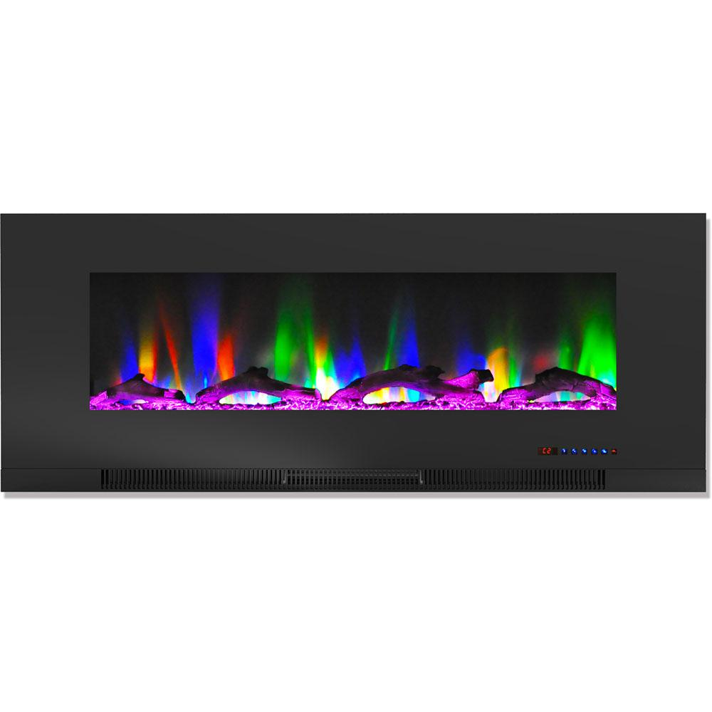 Cambridge 50 In Wall Mount Electric Fireplace In Black