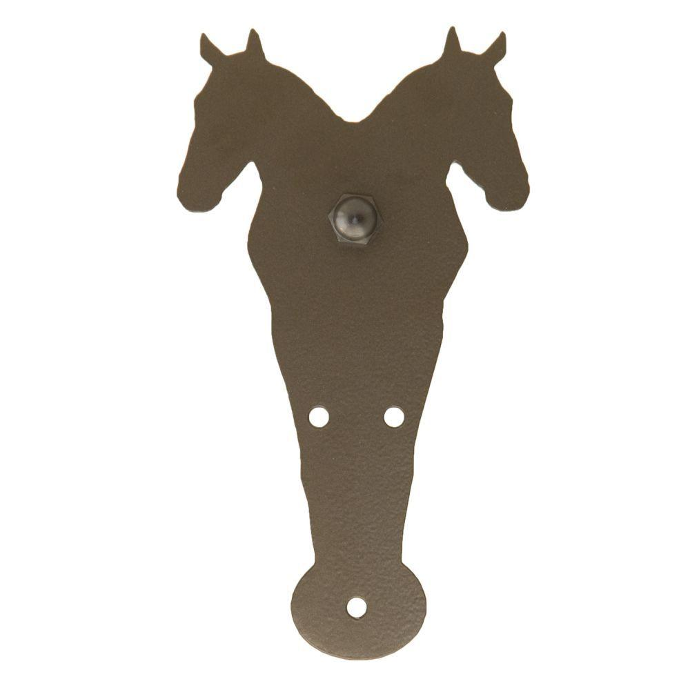 Quiet Glide 8-5/8 in. x 4-5/8 in. Double Horse Oil Rubbed Bronze Roller Strap