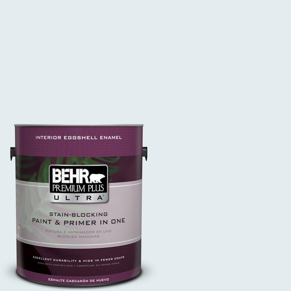 BEHR Premium Plus Ultra 1-gal. #530C-1 Club Soda Eggshell Enamel Interior Paint