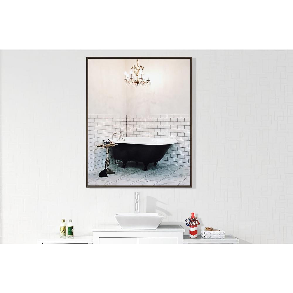 40.125 in. x 34.125 in. Bravo Bronze Vanity Wall Mirror