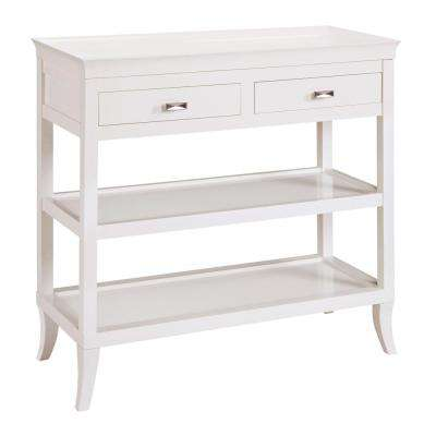 Tamara White Storage Console Table