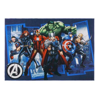 Avengers City Multi-Colored 5 ft. x 7 ft. Indoor Polyester Area Rug