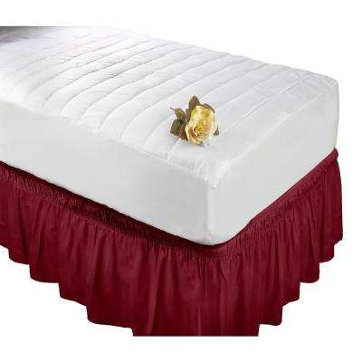 Burgundy Twin/Full Bed Ruffle