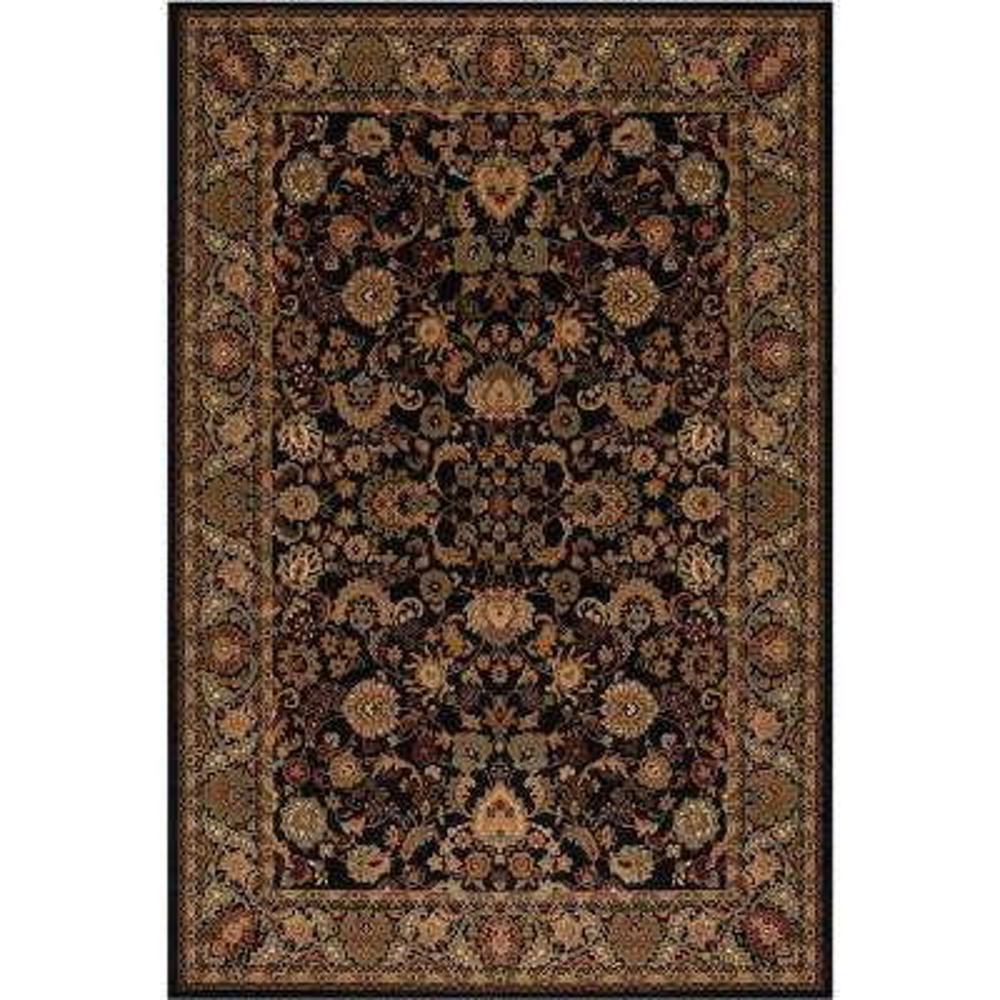 Persian Classics Mahal Black 3 ft. 11 in. x 5 ft. 7 in. Area Rug
