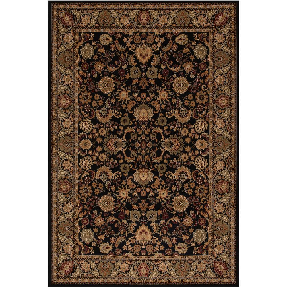 Persian Classics Mahal Black 7 ft. 10 in. x 11 ft.