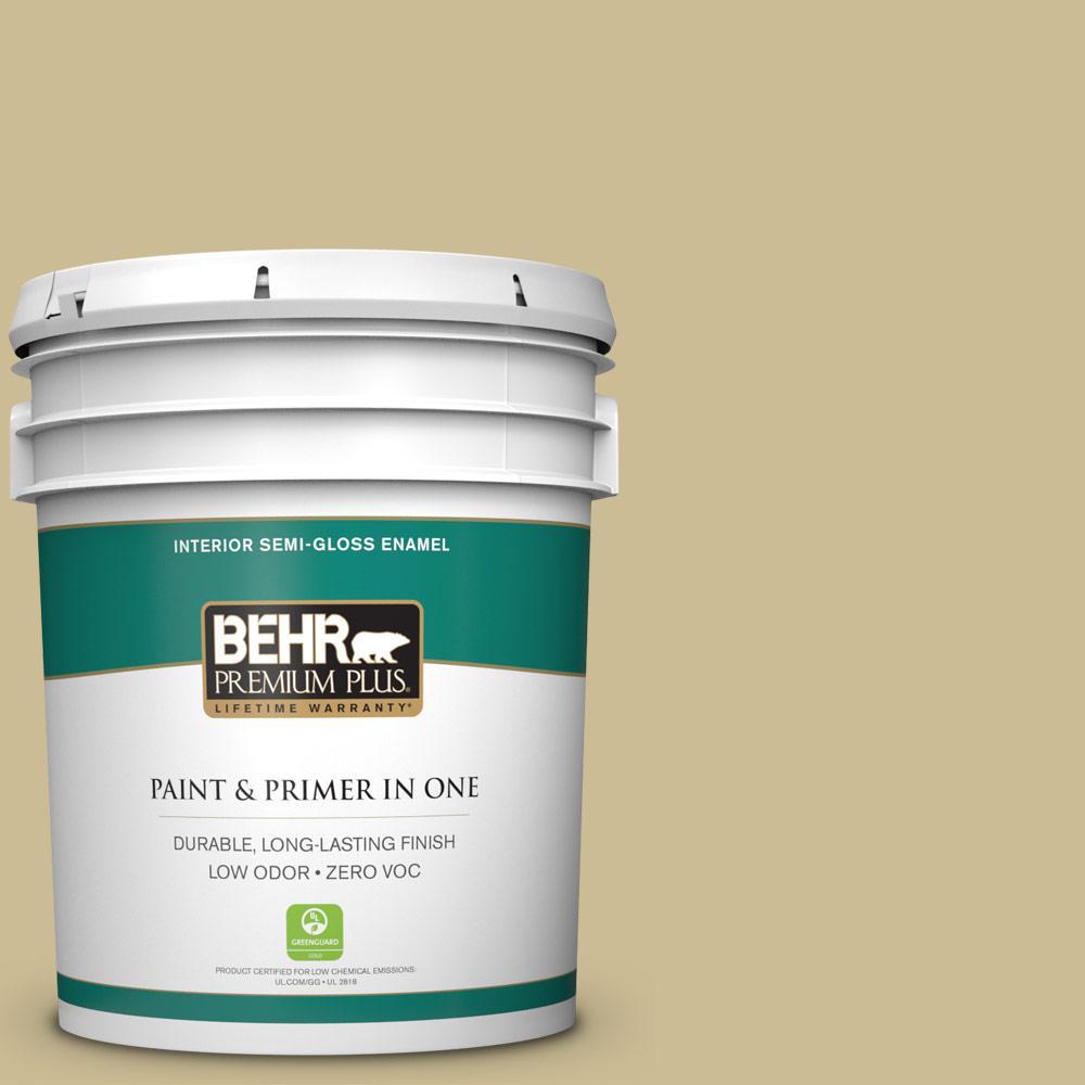 5-gal. #M330-4 Morning Tea Semi-Gloss Enamel Interior Paint