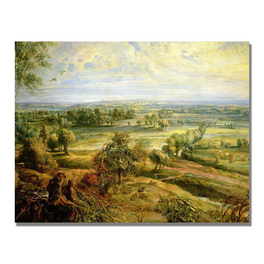 Trademark Fine Art 24 in. x 32 in. An Autumn Landscape II Canvas Art