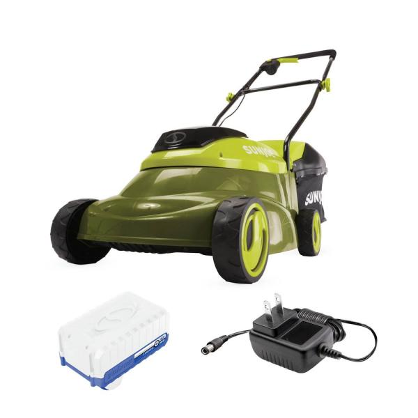 14 in. 24-Volt Cordless Push Walk-Behind Mower Kit with 4.0 Ah Battery Plus Charger