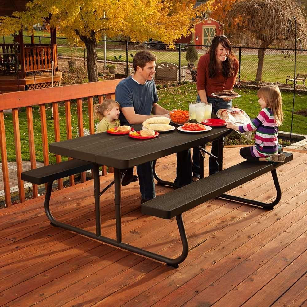 Fantastic Lifetime 6 Ft Wood Grain Folding Picnic Table Inzonedesignstudio Interior Chair Design Inzonedesignstudiocom