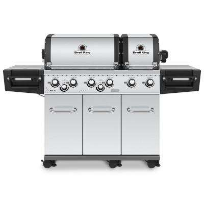 Regal XLS PRO 6-Burner Propane Gas Grill in Stainless Steel with Side Burner and Rear Rotisserie Burner