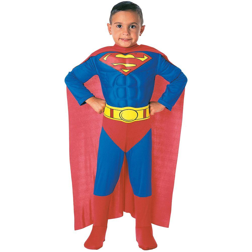 Rubie S Costumes 4t Deluxe Muscle Chest Superman Toddler
