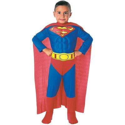 4T Deluxe Muscle Chest Superman Toddler Costume