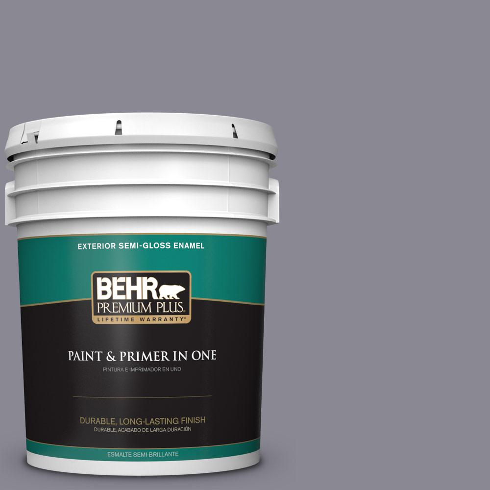 5 gal. #PPU16-15 Gray Heather Semi-Gloss Enamel Exterior Paint