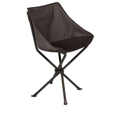 Grey And Black PT Odyssey Portable Folding Patio Chair