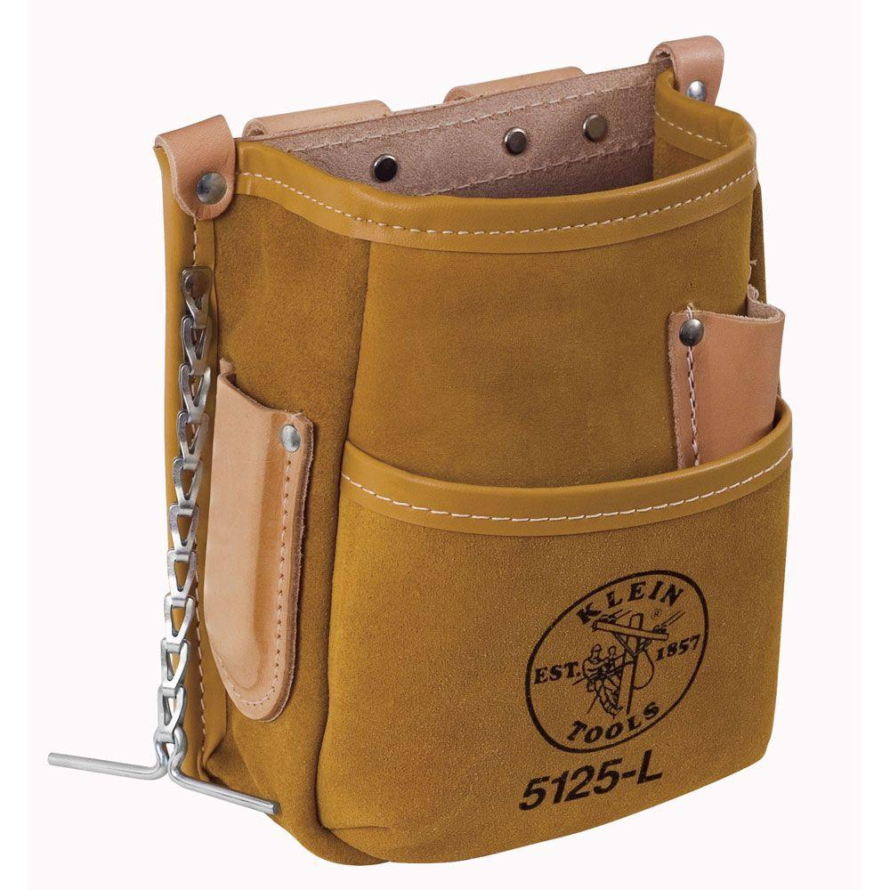 Klein Tools 5-Pocket Tool Pouch - Leather