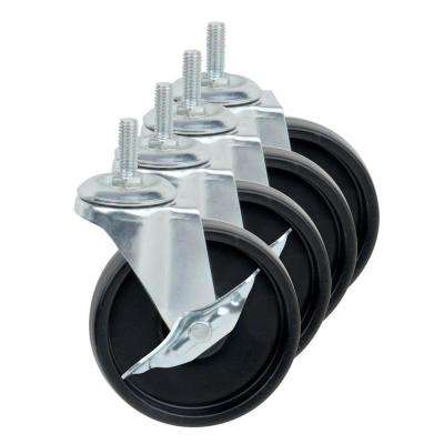 "4"" Caster Roller Wheels for HCD Shelving Unit, Set of Four"