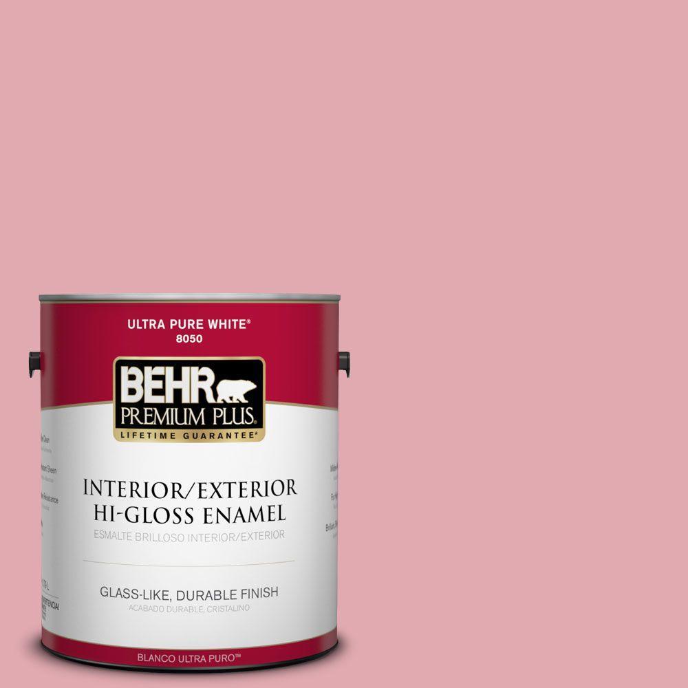 1-gal. #130C-3 Raspberry Lemonade Hi-Gloss Enamel Interior/Exterior Paint