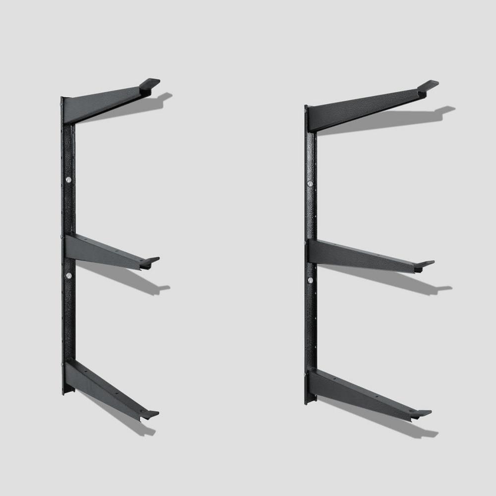 16 in. x 21 in. Heavy Duty Steel Garage Wall Rack with Shelf Brackets