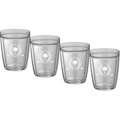 Kasualware Golf 14 oz. Doublewall Short Tumbler (Set of 4)