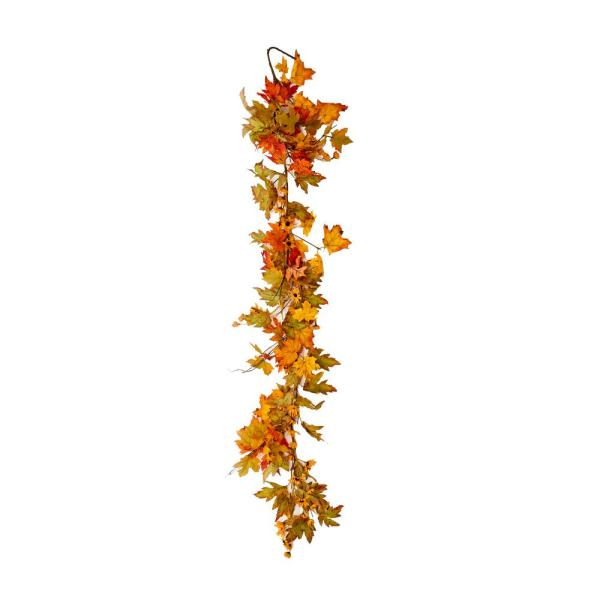 60 in. Fall Maple Leaves Garland