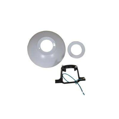 Seaport 52 in. White Mounting Bracket And Canopy Set