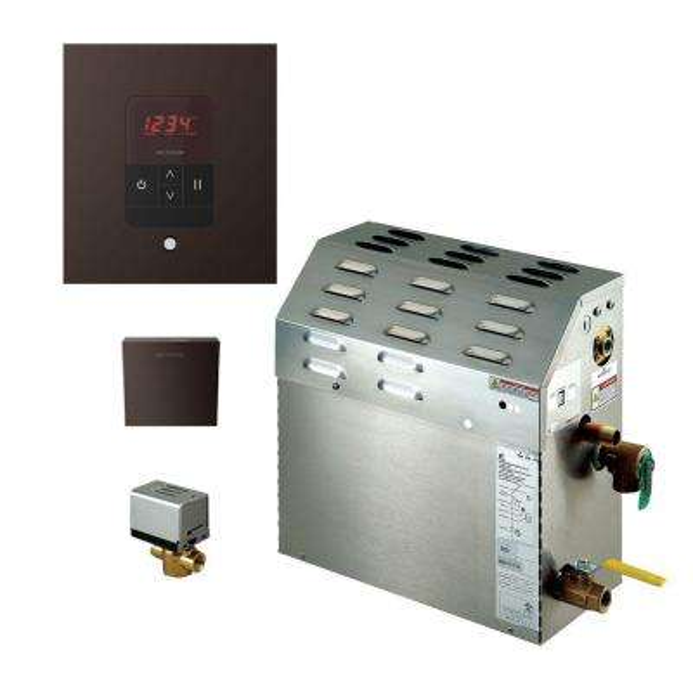 7.5kW Steam Bath Generator with iTempo AutoFlush Square Package in Oil Rubbed Bronze