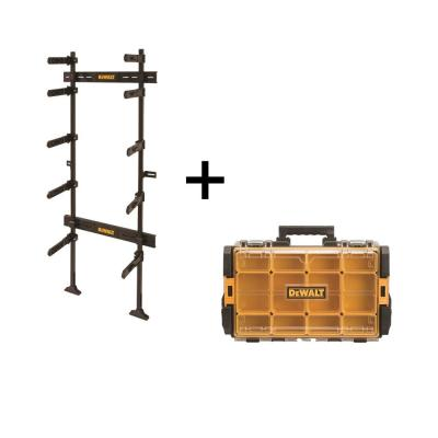 TOUGHSYSTEM 25-1/2 in. Workshop Racking Storage System and Small Parts Organizer Combo (2-Piece Set)