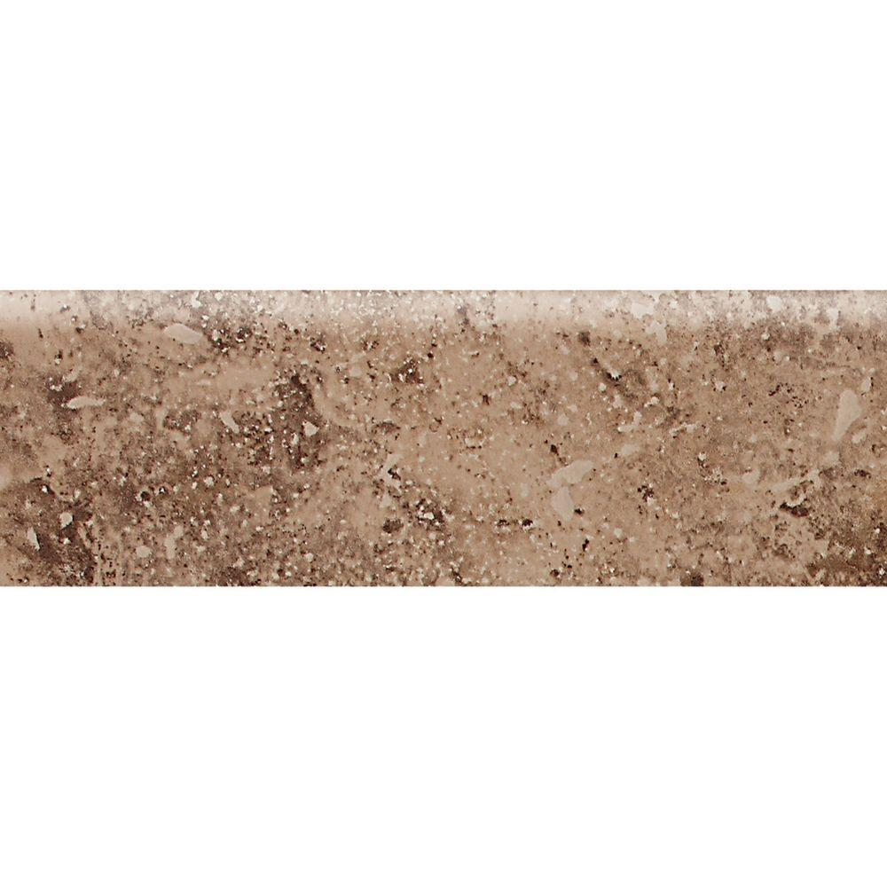 Daltile Heathland Edgewood 3 in. x 9 in. Glazed Ceramic Bullnose Wall Tile (0.1875 sq. ft. / piece)