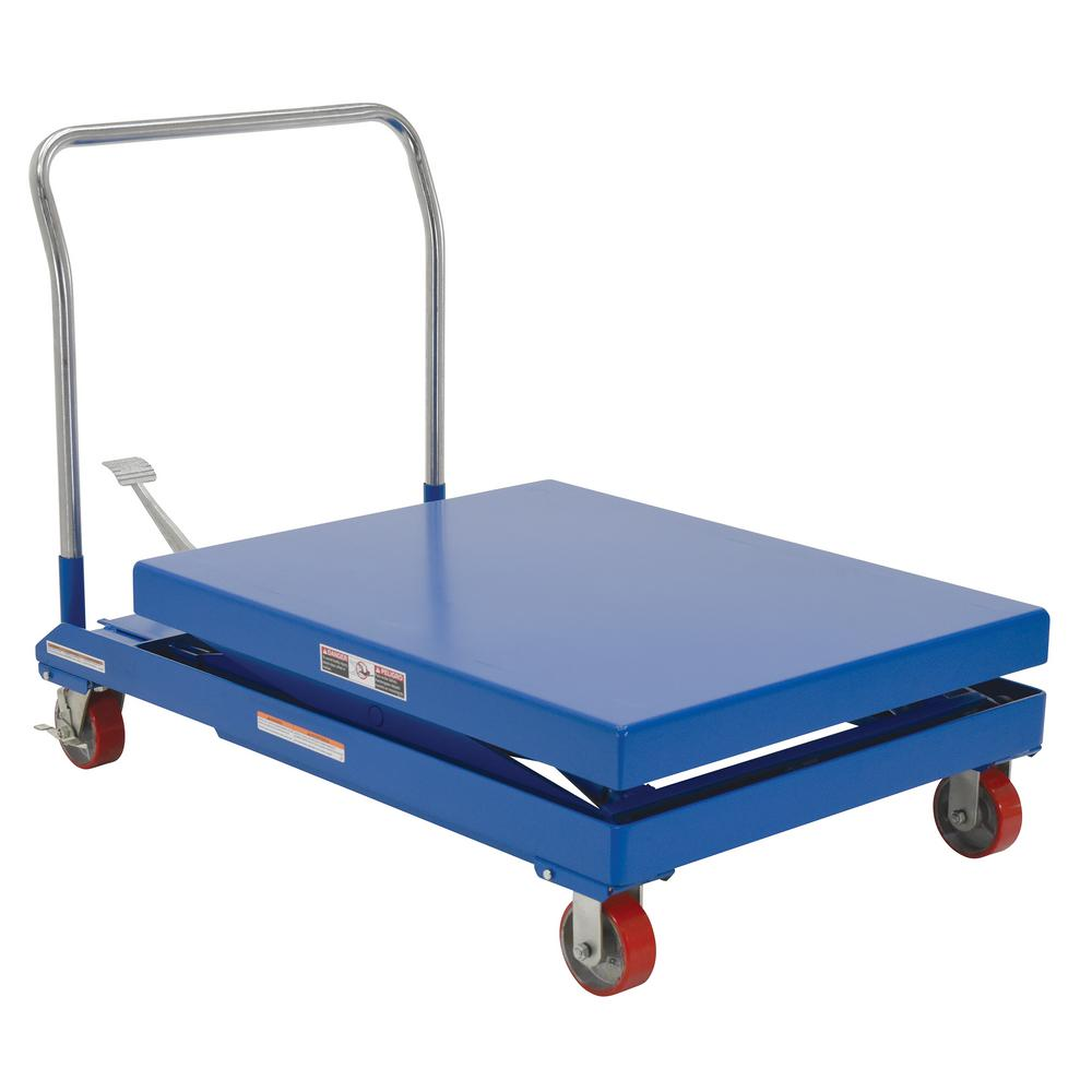 2,000 lb. 32 x 40 in. Hydraulic Single Scissor Cart