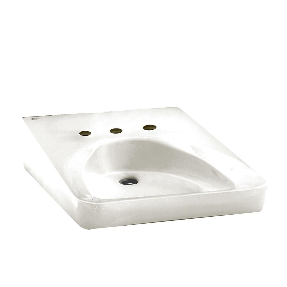 American Standard Wheelchair Users Wall Mounted Bathroom Sink In White The Home Depot