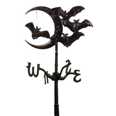 Black Halloween Bat Rooftop Weathervane