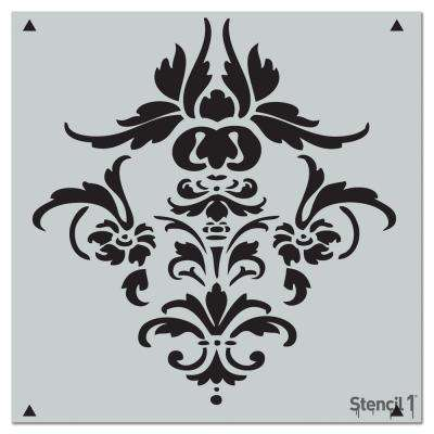 Damask Repeat Pattern Stencil