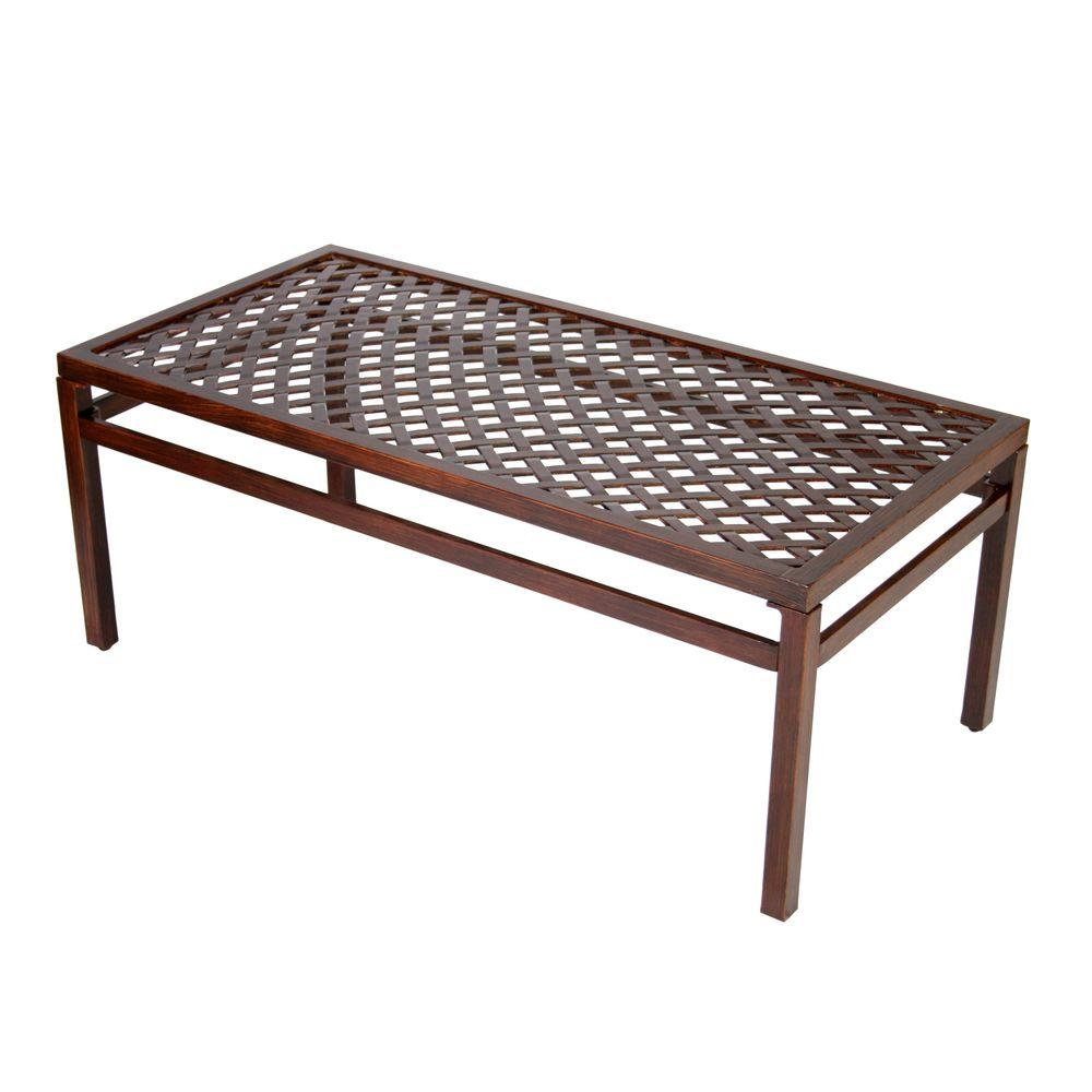 Hampton Bay Morgan Classic Patio Coffee Table-DISCONTINUED